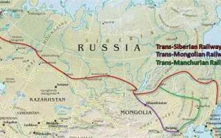 Где находится самая длинная железная дорога
