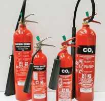 Порядок пользования огнетушителем углекислотным