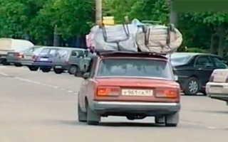 Как перевозить негабаритный груз на легковом автомобиле