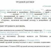 Договор с директором по совместительству образец